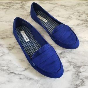 American eagle royal blue slip on loafer flats